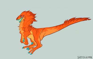 Fluffy raptor Adopt (SOLD) by Setecema
