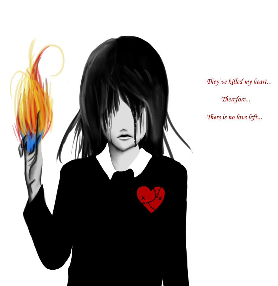 Anime Girl Broken Heart A Suffering Broken Heart By