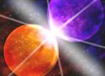 Orange and Purple Planet