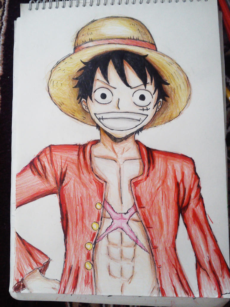 Luffy drawing color by ANIME-X-SAMA on DeviantArt