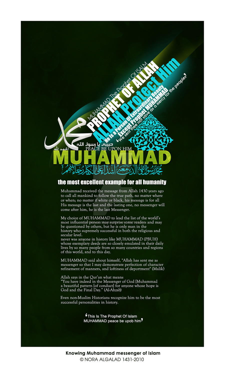 MUHAMMAD prophet of Islam by NoraAlgalad