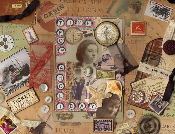 Scrap book stock by rustymermaid-stock