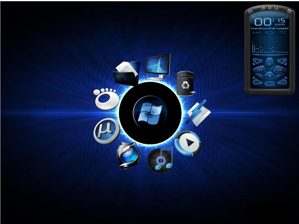 Blue Feat  Windows Circle Dock by wallybescottyWinamp Icon Blue