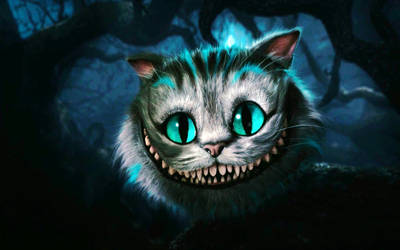 cheshire cat alice in wonderla by wallybescotty