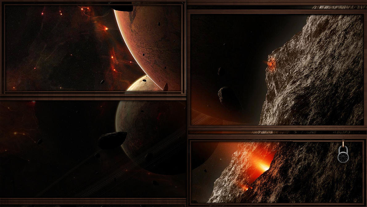 red space lock screen wallpaper for windows 810 by