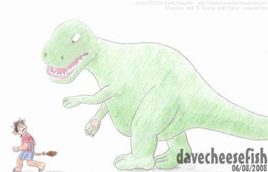 skifi and the Dinosaur by Davecheesefish