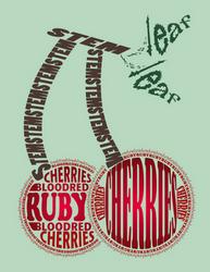 Typographic Fruit by Cypherphoenix