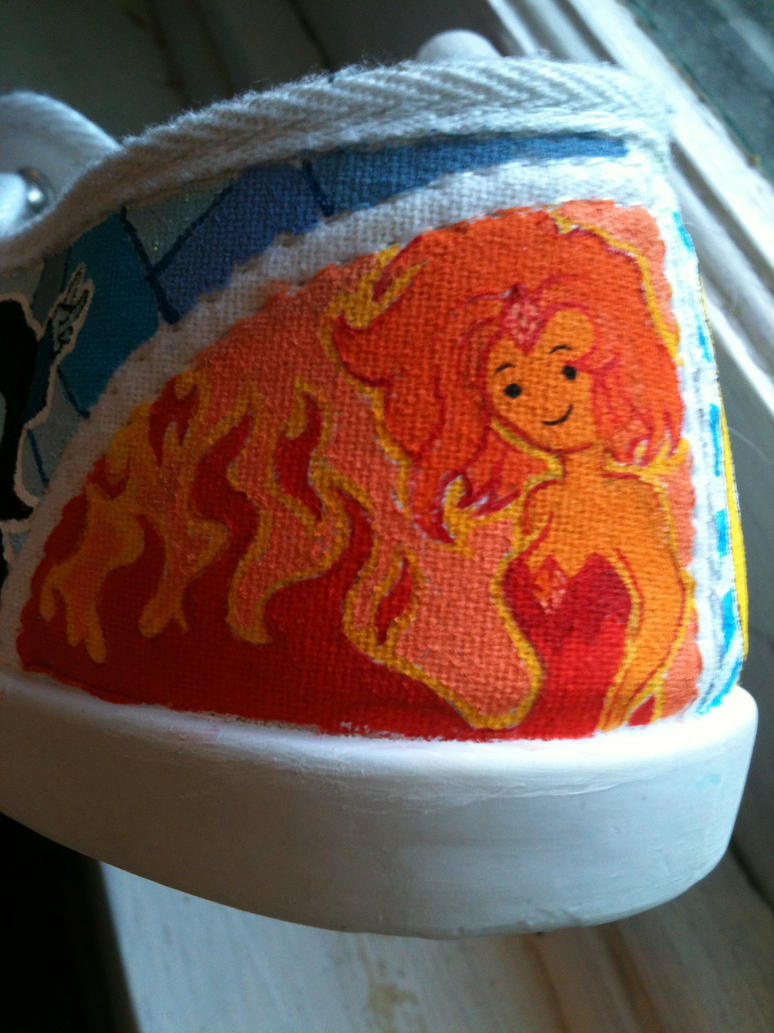 AT shoes WIP Flame Princess by PirateTabby