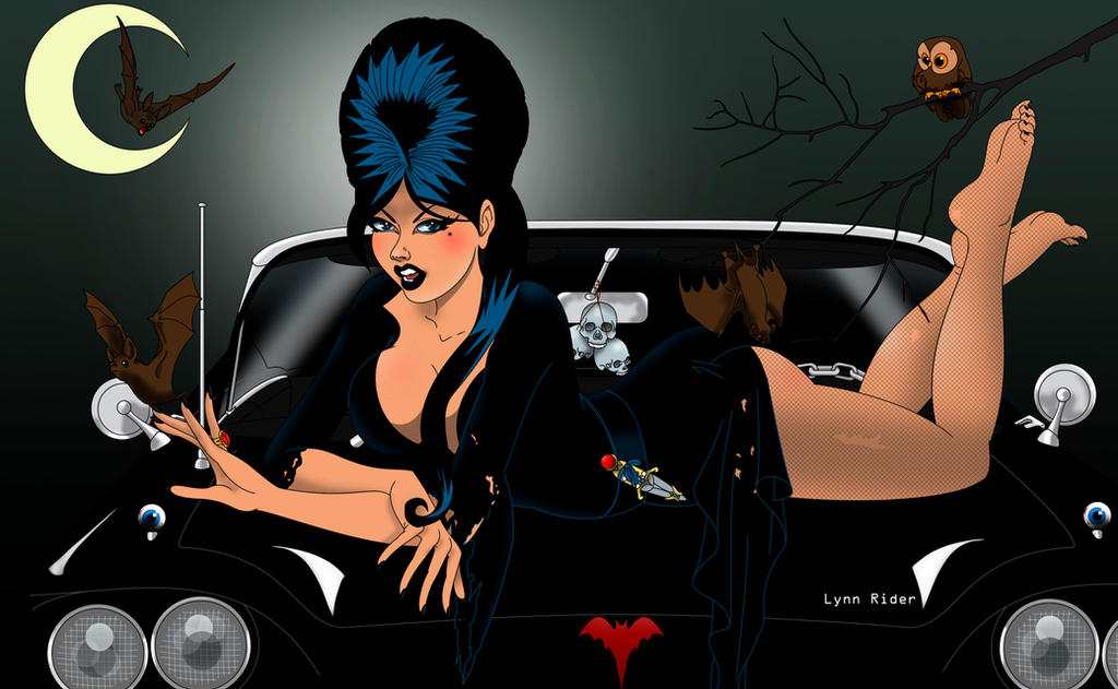 Elvira's hot ride by eddielynn