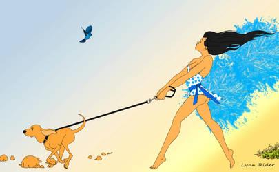 Walking Dog. by eddielynn