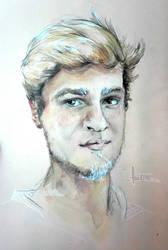 Classmate portrait - Simon by FaustSky