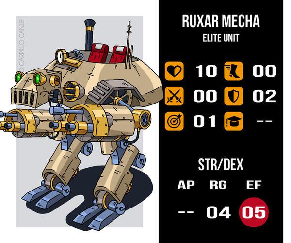 Unit Ruxar Mecha I by Bernardonevermore