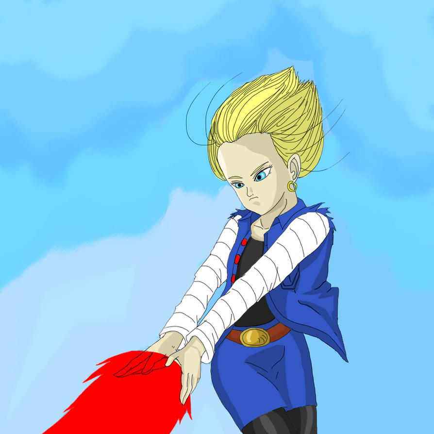 Android 18 And Tail Deviantart: Android 18 (#18) By IllusionFantasy On DeviantArt