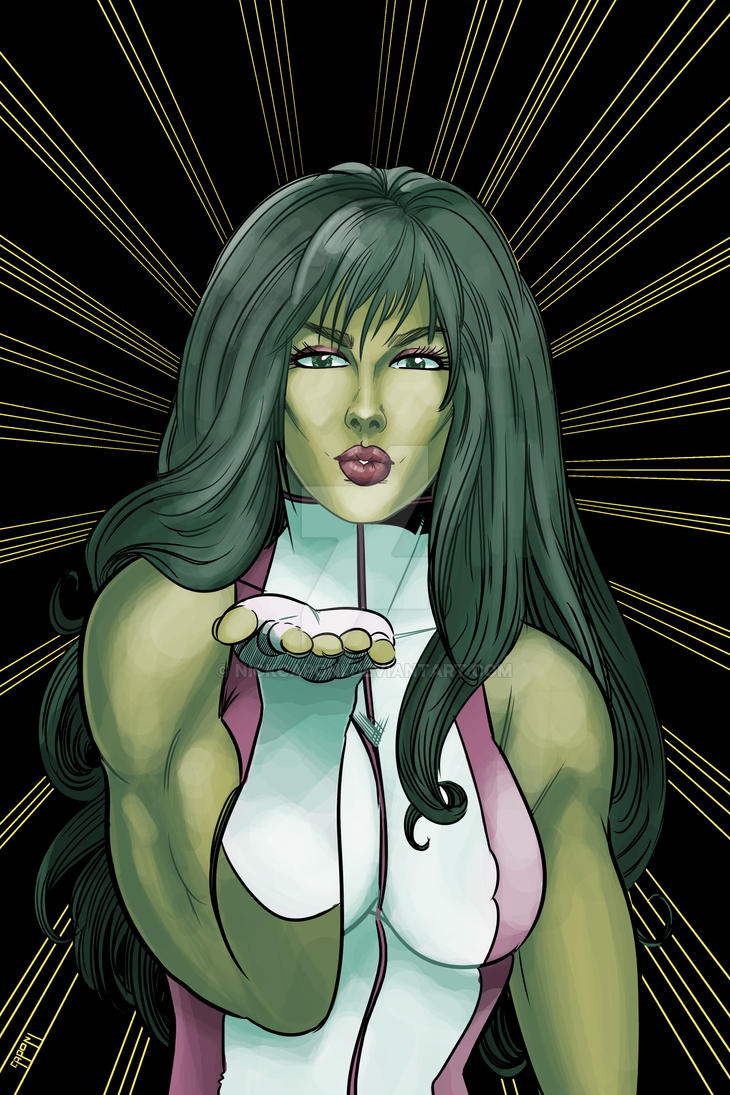 She-Hulk! (Colors) by nickcaponi