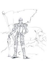 General Bahd'Az. Line Art