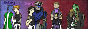 Mass Effect- 4 kinds of love by amiko16