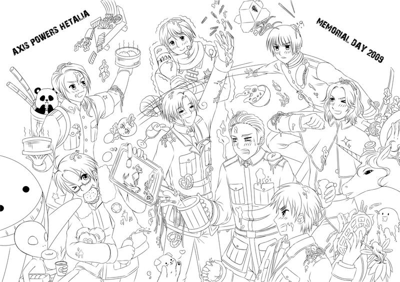 anime hetalia coloring pages - photo#33