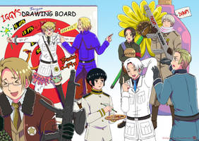 Hetalia: Drawn Together by khakipants12
