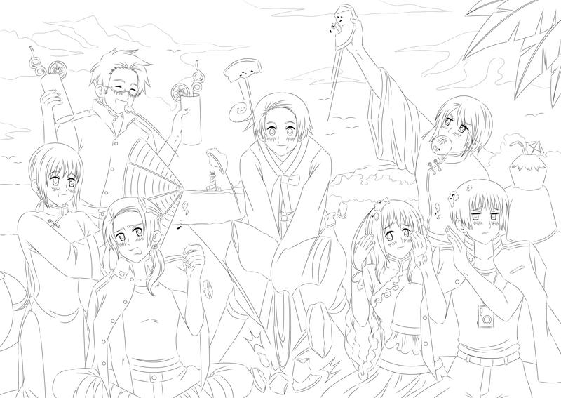 anime hetalia coloring pages - photo#34