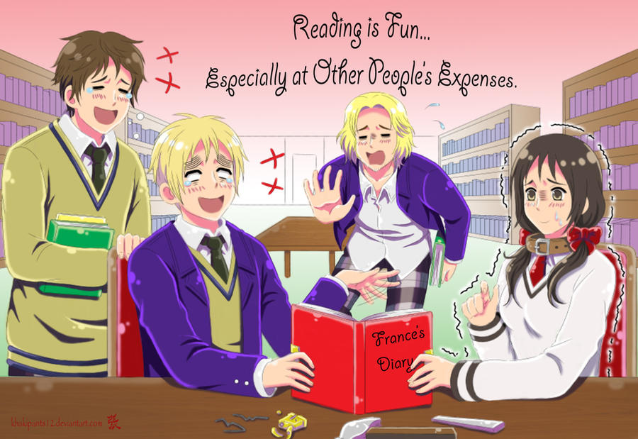 Hetalia: Reading is Fun by khakipants12