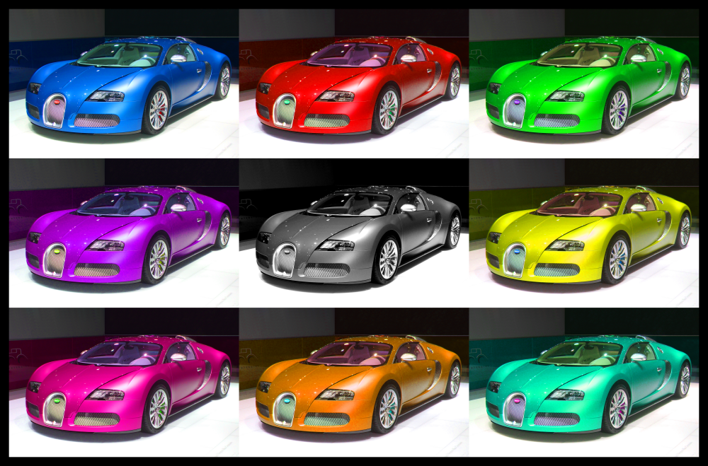 Bugatti veyron color changing