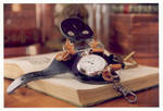 steampunk watch open by enguerrand
