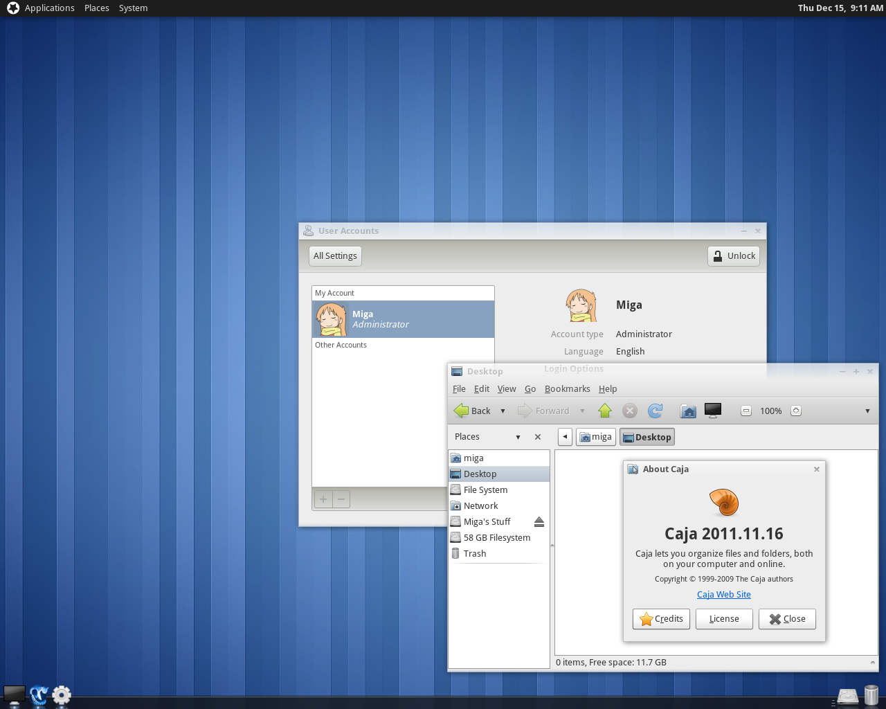 Parabola Gnu Linux Desktop 20111215 By Theofficalmiga On