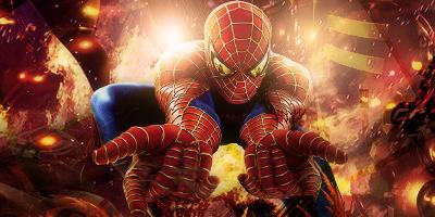 spider-man on fire by Rapstyle95 on DeviantArt