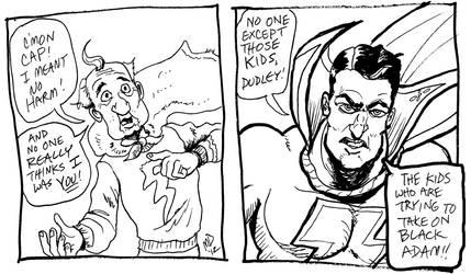 Shazam Test Sketch by Stone-Pi-Comics