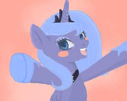 Luna gives a hug by BiohazardousDouglas