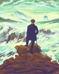 Wanderer above a sea of Mist by T3ragram