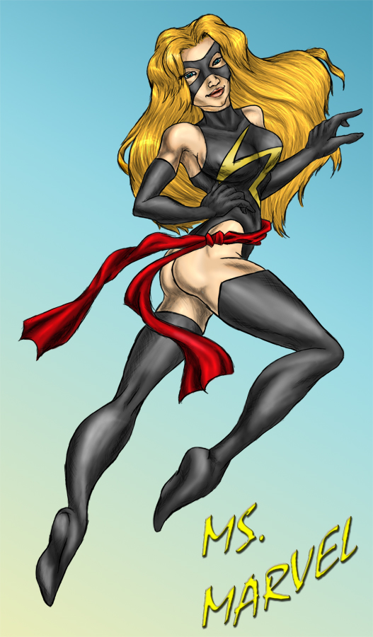 Marvel - Ms. Marvel Colored by kimberly-castello