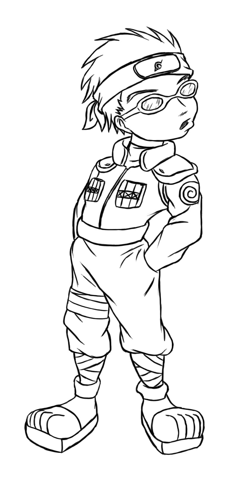 Baby Ninja Coloring Pages