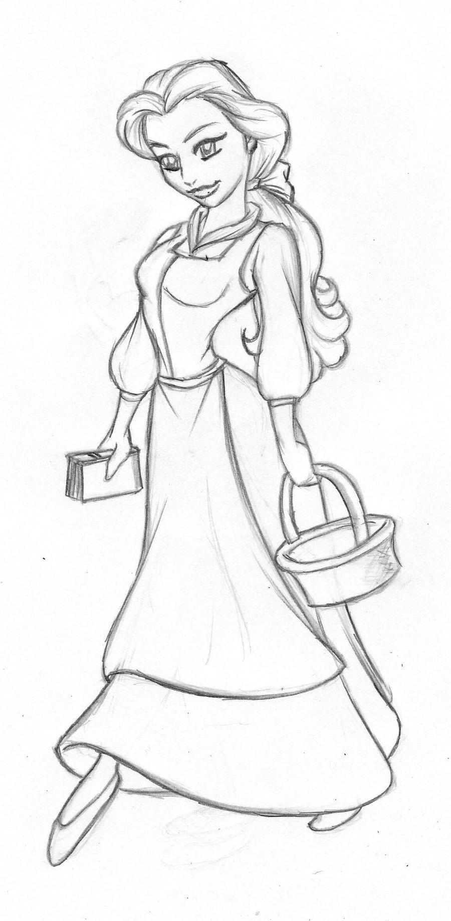Princess Belle Coloring Pages Games