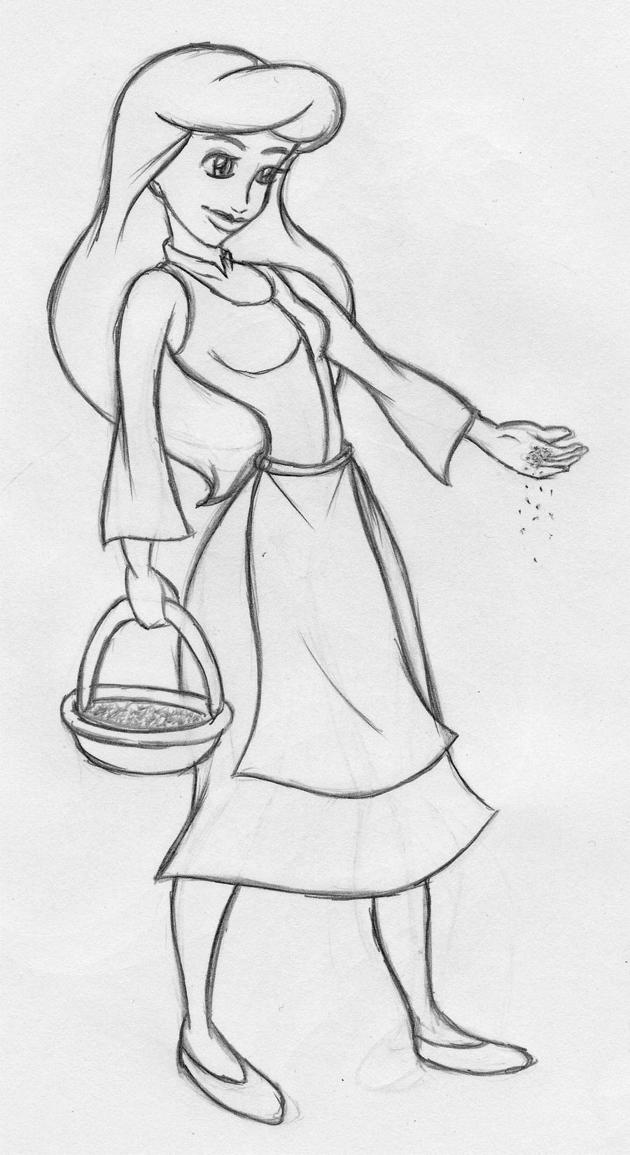 Disney Cinderella Sketch By Kimberly castello On DeviantArt