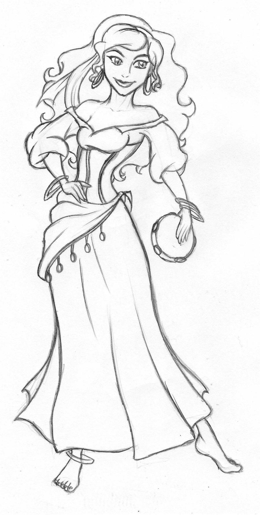Esmeralda Coloring Pages