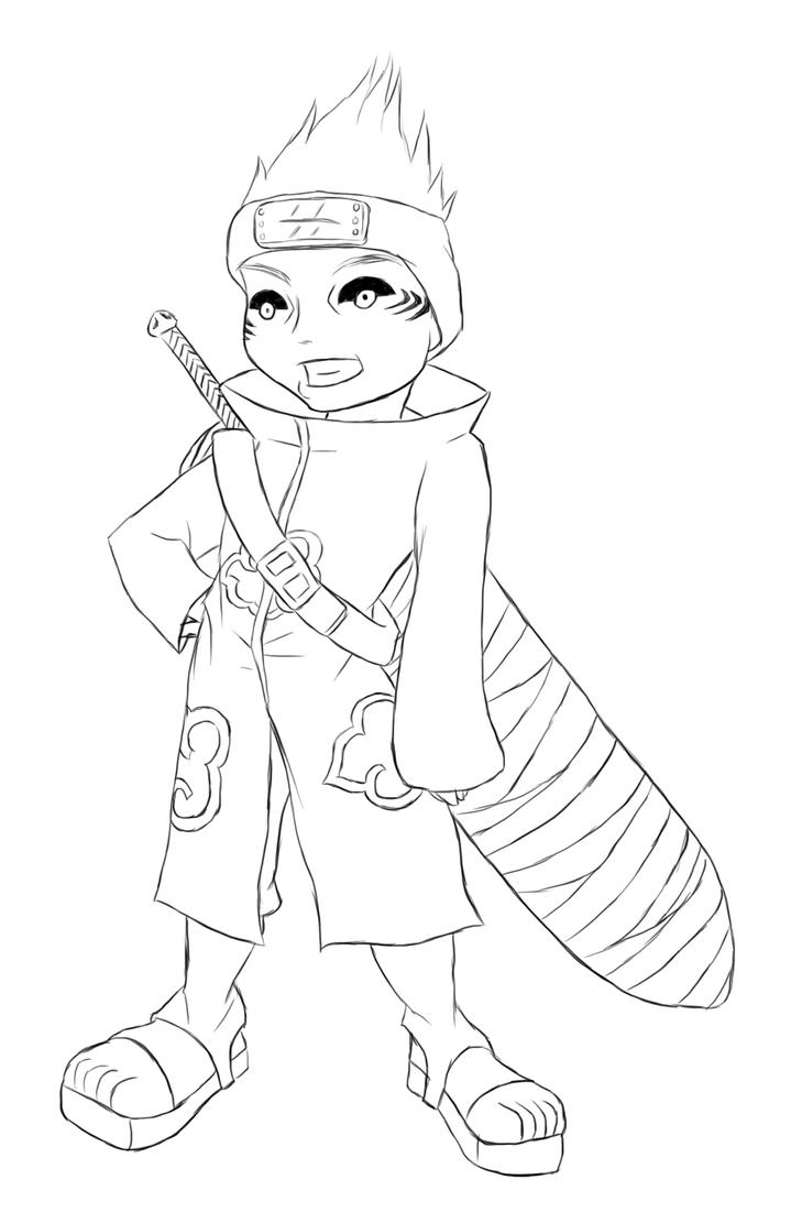 Naruto chibi kisame lines by kimberly castello on deviantart for Chibi naruto coloring pages