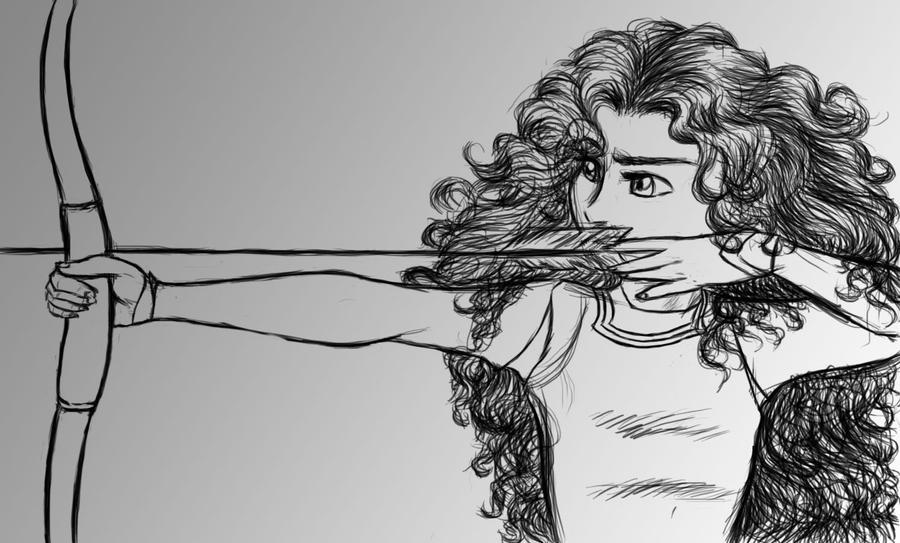 Disney: Merida from Brave sketch by kimberly-castello