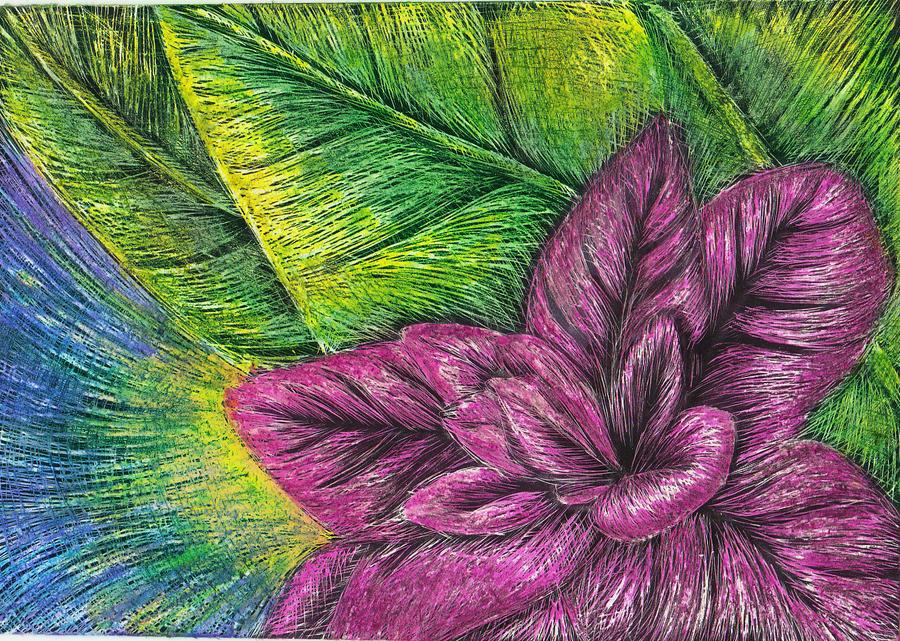 Scratch Art Flower By Kimberly Castello