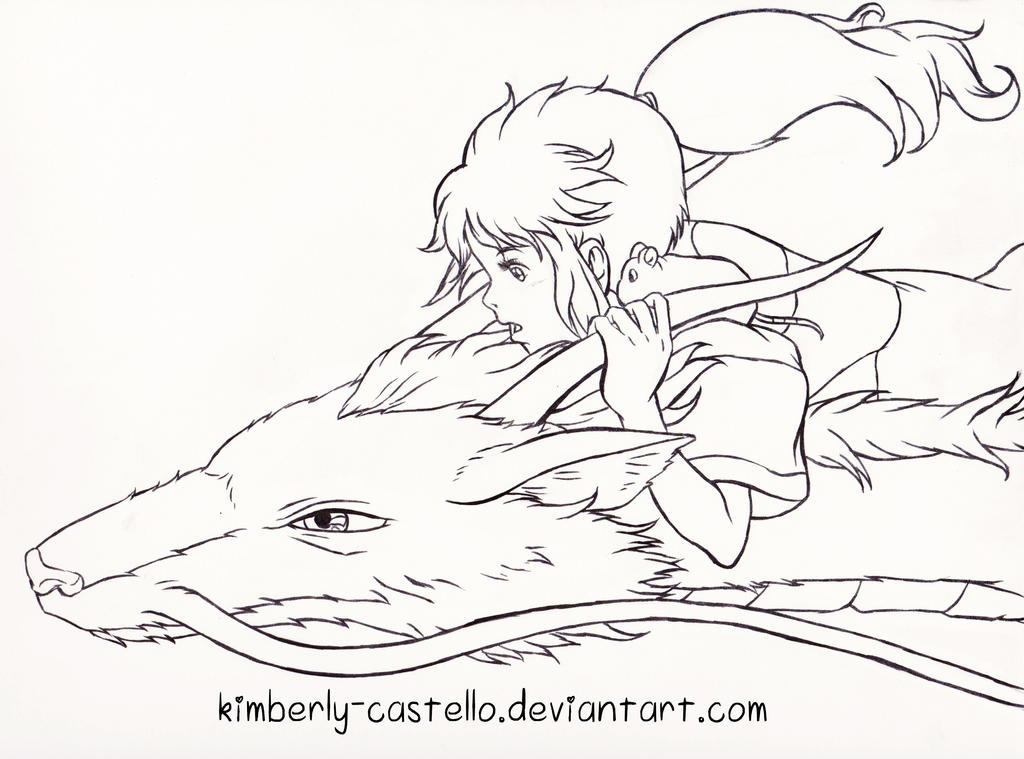 Spirited Away: Chihiro and Haku by kimberly-castello