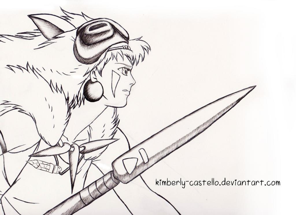 Princess Mononoke Mask Coloring