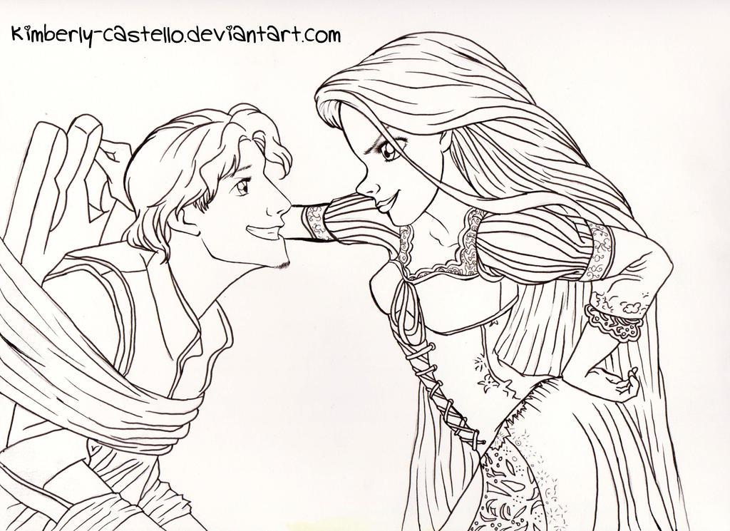 Line Art Disney : Disney tangled line art by kimberly castello on deviantart