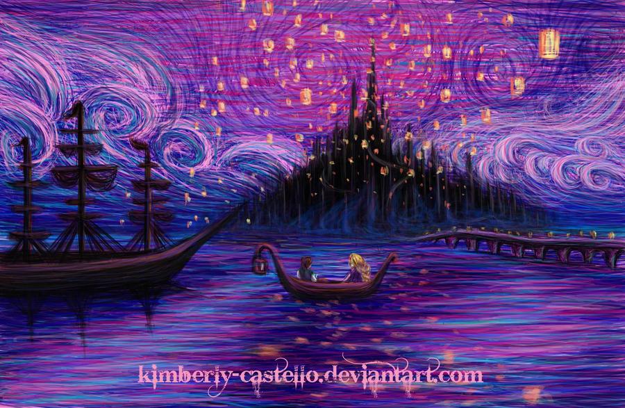 Disney The Lantern Scene By Kimberly Castello On Deviantart