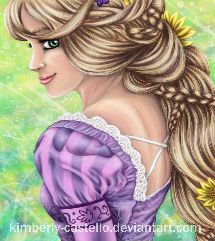 Disney: Rapunzel Portrait by kimberly-castello
