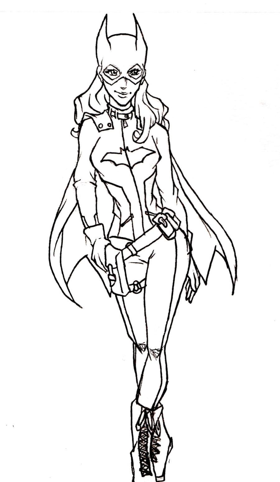 Line Art Comic : Dc comics batgirl by kimberly castello on deviantart