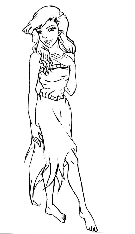 Line Drawing Disney : Disney s the little mermaid ariel lineart by kimberly