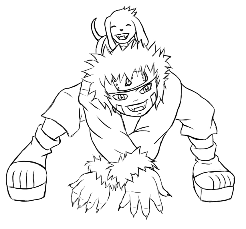 Naruto chibi kiba lines by kimberly castello on deviantart for Chibi naruto coloring pages