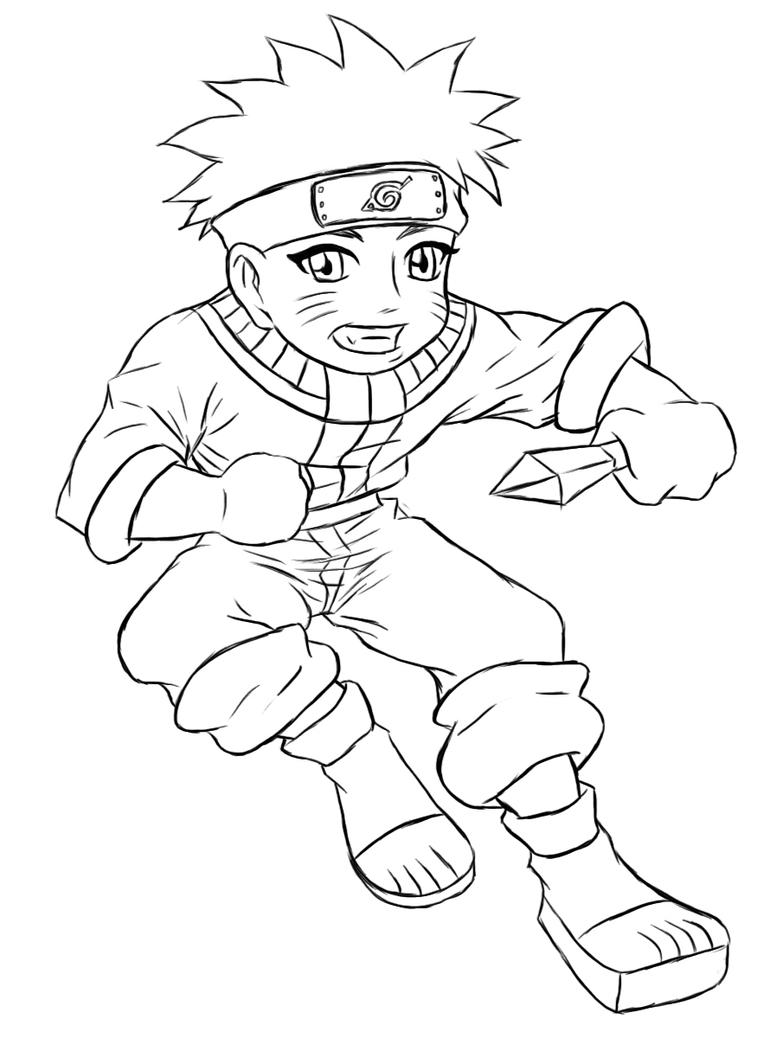 chibi naruto coloring pages - naruto chibi naruto lines by kimberly castello on deviantart