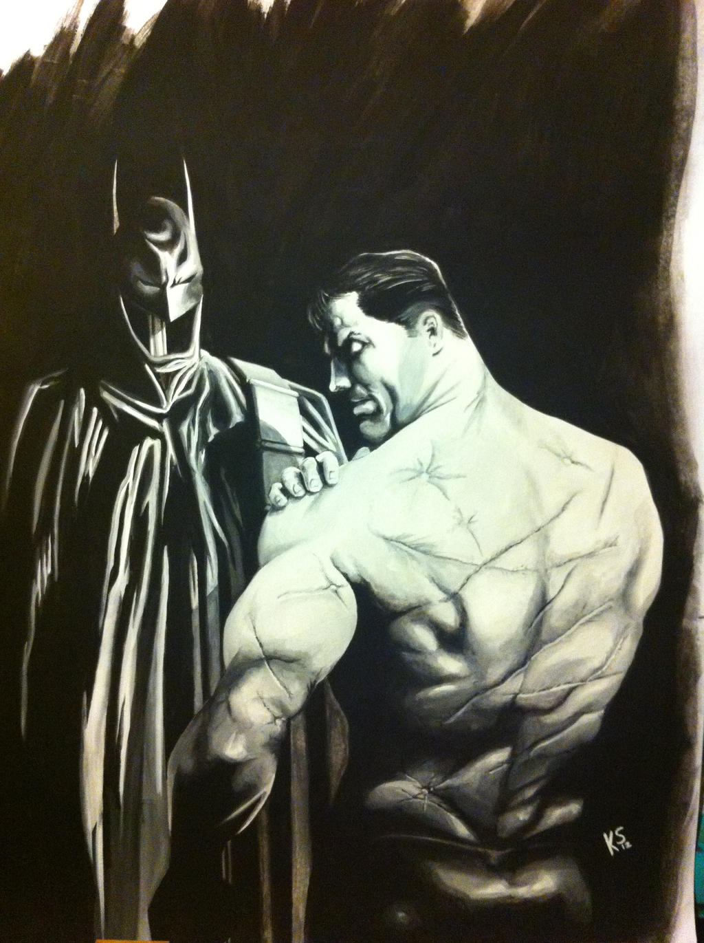 Bruce Wayne scars by Skellyk