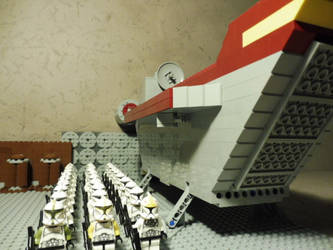 CR-20 Troop carrier and clone squad LEGO Star Wars by William-Blackbird